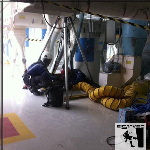 Empresa especializada em limpeza de silos