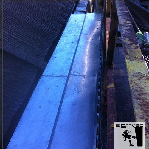 Limpeza de calha industrial